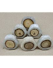 Casa Décor Wood Inlay Resin Knobs for Cabinets & Cupboards Drawer Pulls