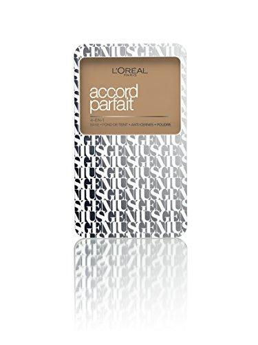 L'Oréal Paris A7889000 Accord Parfait Genius 4 in 1 Fondotinta Compatto 5N, Sable