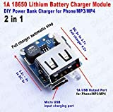 Robocraze 2in1 charge discharge board module DIY 18650 lithium battery Power Mobile Bank