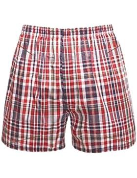 Pantaloni di pantalone traspirante del pugile del pugile dei pantaloni del plaid della spiaggia di Mens del riassunto...