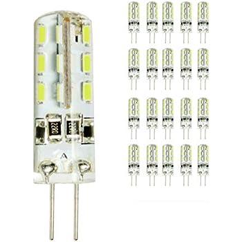 20 Pack 2 W G4 LED Lámpara, Repuesto para 15 W Halógena Lámpara, 180lm