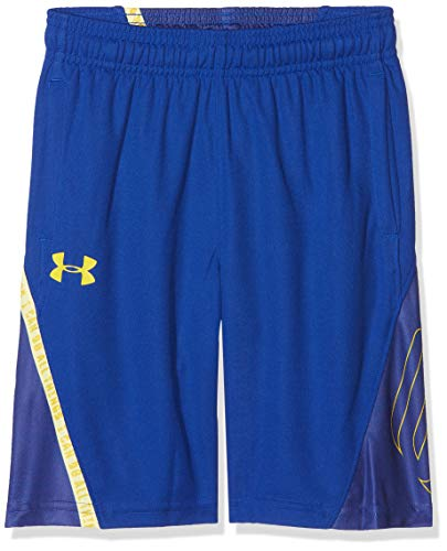 Under Armour Kinder SC30 Short Kurze Hose, Royal/Taxi (400), YLG