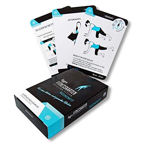 figgrs Trainingskarten Rückenfit (50 Übungen ohne Geräte für einen starken und gesunden Rücken)