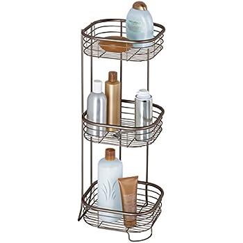 mdesign tag re d 39 angle sur pied pour salle de bain et. Black Bedroom Furniture Sets. Home Design Ideas