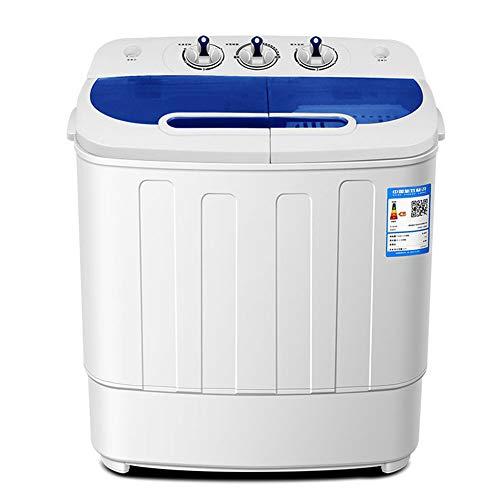 IIWOJ Waschmaschine Doppelzylinder Halbautomatik (Waschen 3,6 Kg + Austrocknung 2,0 Kg)