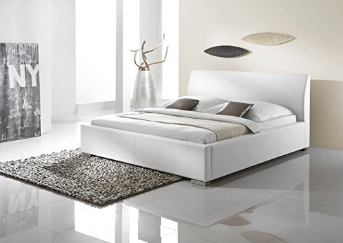 Polsterbett 160x200 Comfort l Kunstleder Weiß l meise.möbel