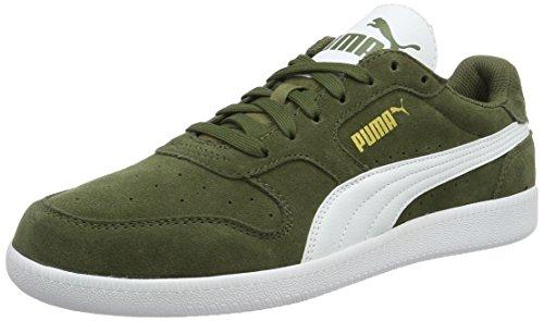 Puma Icra Trainer Sd, Scarpe da Ginnastica Basse Unisex - Adulto, Verde (Burnt Olive-Puma White 27), 48.5 EU