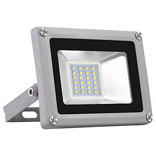 Viugreum Focos LED Exterior 20W, Floodlight Led 2000LM 6500K(Blanco Frío), Iluminación interior...