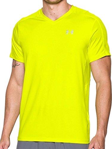 Under Armour Herren CoolSwitch Run V-Neck Shirt, Herren, Flash Light (738)/Reflective, Small
