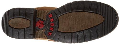 "Rocky 11"" Branson Waterproof Hommes Cuir Chaussure de Travail brown"