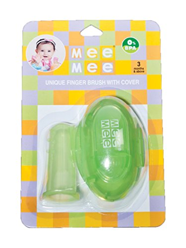 Mee Mee Finger Brush with Cover (Green)