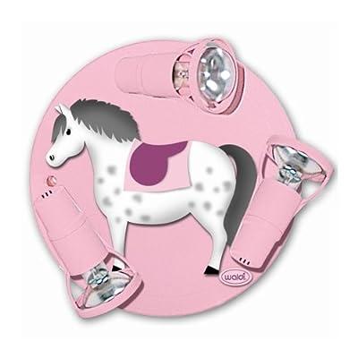 Waldi Deckerondell Pony rosa 3-flg. von Waldi Leuchten bei Lampenhans.de
