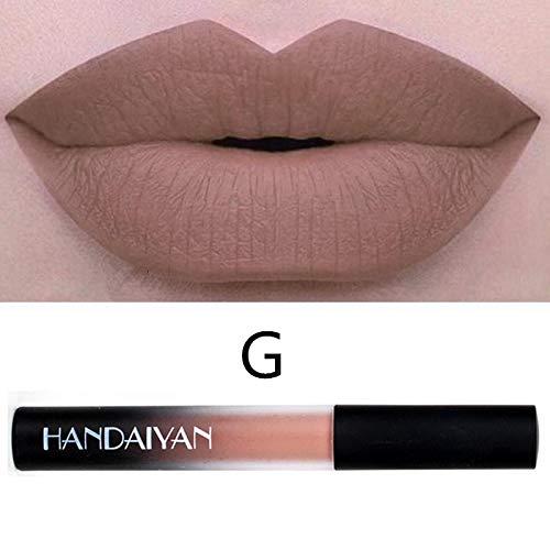 Tagether Matt Lipgloss Lippenglasur Samt für volle und gepflegte Lippen 3D Lippgloss Matte Lippenstifte Wasserfest Langlebig Liquid Lipstick Natürliche Lip Gloss