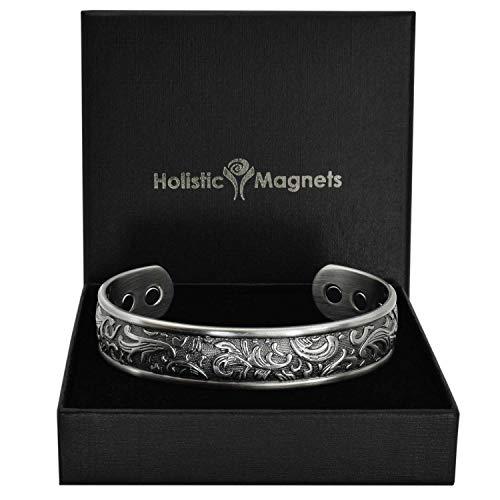 Holistic Magnets® Magnetisches Armband Damen Kupfer Armband (Anlauffarbenfrei) Originelle Geschenkideen für Frauen Handgelenk Gelenkheilung Armband +Geschenkbox-PP (M: Handgelenk 16,5-19,5cm)