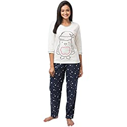 Nite Flite Women's Cute Penguin Winter Cotton Pajama Set