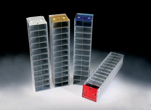 Vertikale Gefrierschrank Rack (NUNC Aluminium cryobox Gefrierschrank Rack, vertikal, 12Fächer, natur)