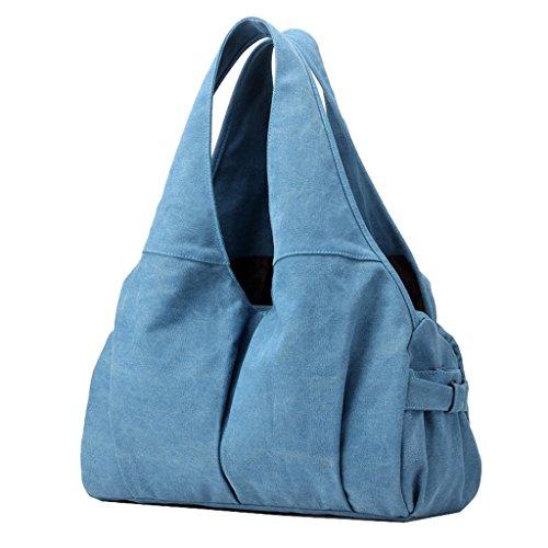Supa Moden Damen Canvas Schultertasche, Handtasche, damen, dunkelblau (Bag Reisetaschen Tag)