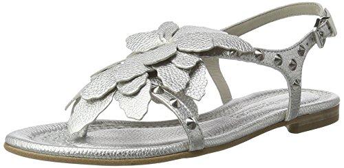 Kennel und Schmenger Schuhmanufaktur Damen Elle Zehentrenner Silber (Light Silver/Silver)
