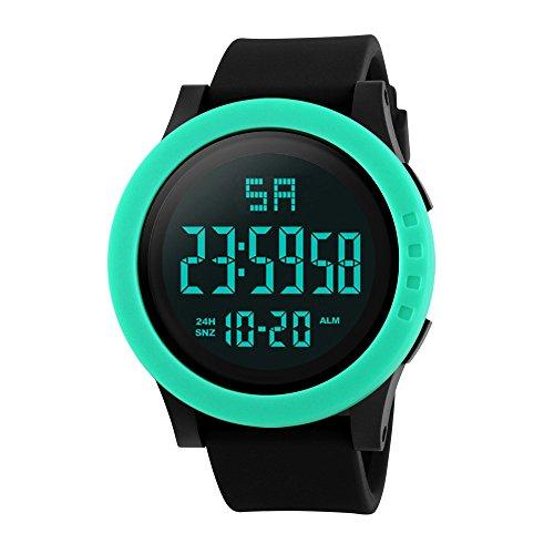 NEEKY Sportuhren Herren Fitness,Gesundheits und Fitness Tracker - LED Wasserdichte Digital Quarz Military Luxury Sport Datum Uhren der Art und Weise