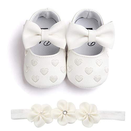 443bb39b33 Zapatos de Niña con Diadema Regalo Set Bautizo Lovely Algodón Flor ...