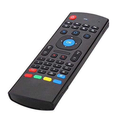 Festnight MX3 Portable 2.4G drahtlose Fernbedienungstastatur, Mini Wireless Keyboard & Infrarot-Fernbedienung Lernen, am besten für Smart TV Android TV-Box Mini-PC HTPC