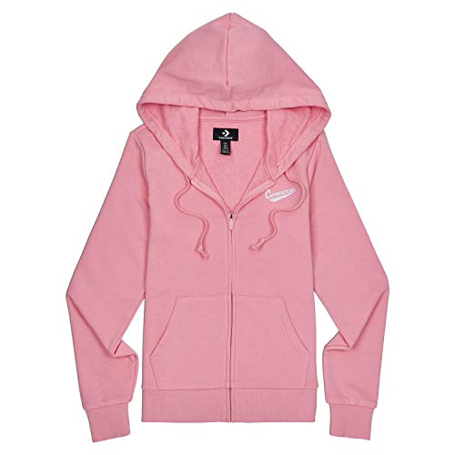 Converse Women's Star Chevron Nova Full Zipped Hoody Costal Pink 10017713-a03-651