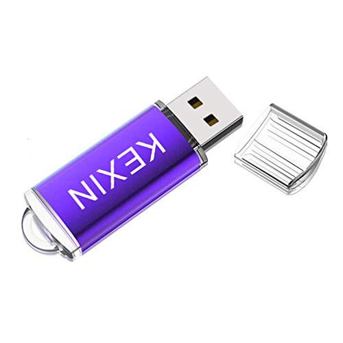 KEXIN USB-Stick 32 GB Mini USB-Flash-Laufwerk USB 2.0 Speicherstick Pendriv Memory Sticks Flach Drive mit Kappe für PC Laptop Tablet Mac Schule Business Geschenk Violett (Mini-usb-flash-laufwerk)