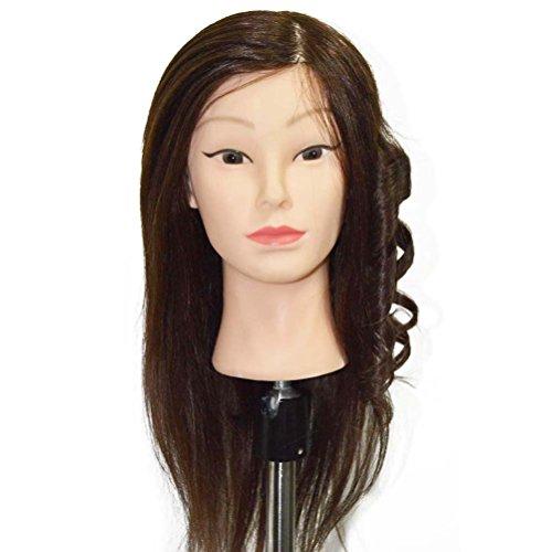 OULII 80 % vrais cheveux blonds formation coiffure coupe tête Mannequin cheveux humains, 8 pouces