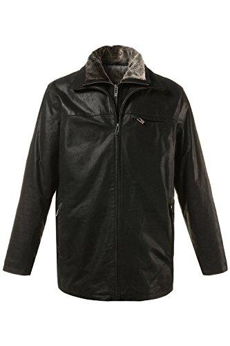 JP 1880 Herren große Größen bis 7 XL | Lederjacke | Gefütterte Jacke | Porc Leder | Herausnehmbarer Fleece Einsatz & 3 Taschen | schwarz 5XL 705620 10-5XL