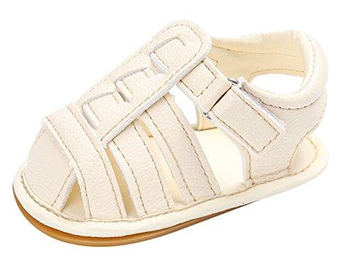 La Vogue Sandale Bébé Fille Garçon Chaussures Premier Pas Été PU Cuir Beige