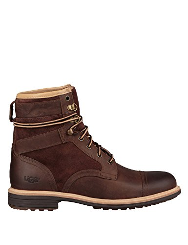 Ugg Men's Magnusson Men's Boots With Laces In Brown Color In Size 43 Brown (Brown Leder Color)