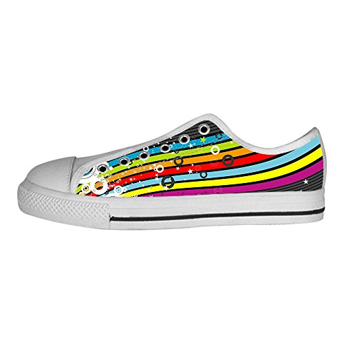Dalliy Rainbow Women's Canvas Shoes Lace-up High-top Footwear Sneakers Chaussures de toile Baskets