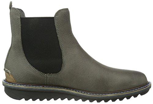 Ecco Damen Elaine Flatform Chelsea Boots Grau (WARMGREY/WHISKY 58902)