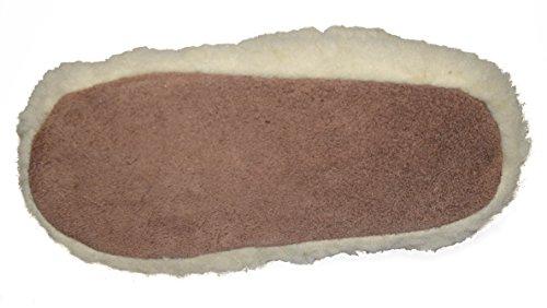 BTS 1512 chaussons en cuir pour femme avec doublure couleur beige-taille 36 Beige - Beige