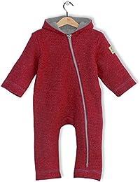 bubble.kid berlin - Unisex Baby Mädchen Herbst Jungen Winter Anzug Overall Einteiler Anu, Soft Walk Wolle weinrot