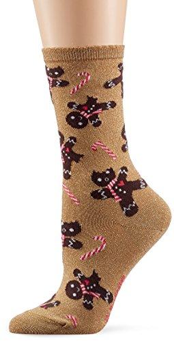 Burlington Damen Socken Christmas, Mehrfarbig (Brass 5150), 36/41