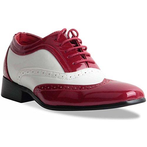 rossellini-borsalino-scarpe-stringate-uomo-multicolore-red-white-10-uk