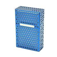 Hollow Aluminum Flip Cover Cigarette Case Creative Portable Personality Metal Cigarette Accessories Storage Box