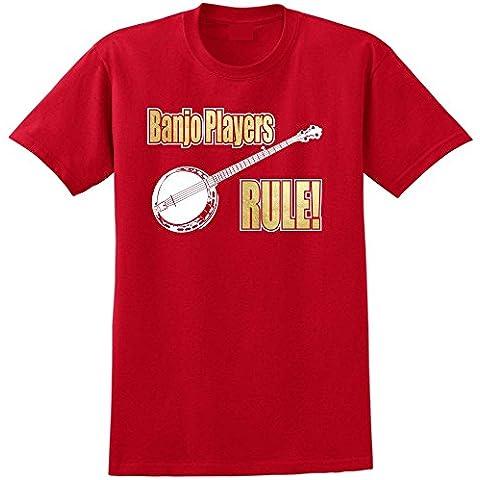 Banjo Rule - Musica T Shirt 13 Taglia 5 Anni - 6XL 9 Colori (Classica Rock Banjo)