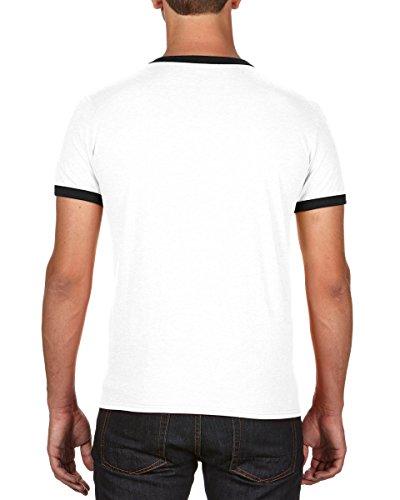 Anvil Herren T-Shirt weiß / schwarz