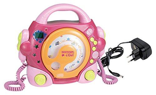 Bontempi Lettore CD con 2 Microfono, Colore Rosa, 439972