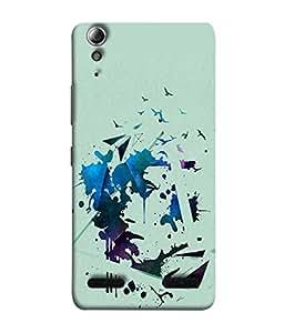 PrintVisa Designer Back Case Cover for Lenovo A6000 (Spray painting colors with birds)