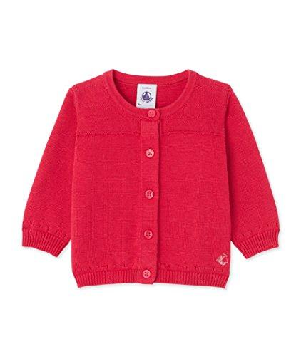 Petit Bateau Baby-Mädchen Strickjacke Cardigan, Rosa (Flashy 90), 92 (Herstellergröße: 24m/86cm) (Herrliche Baumwolle Strickjacke)