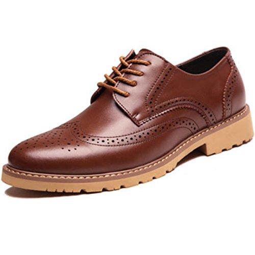 Men's Vintage Retro Brogues Genuine Leather Formal Shoes brown
