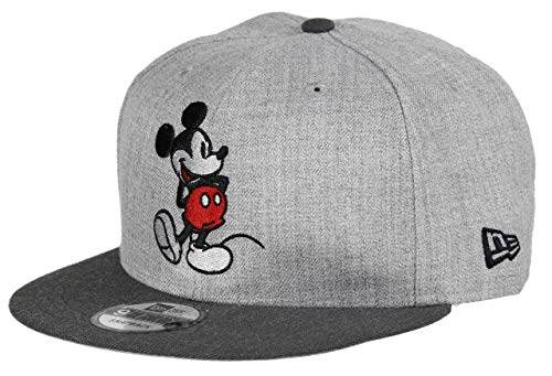 New Era Mickey Mouse 9fifty Snapback Cap Comic Graphite Heather Graphite - One-Size -