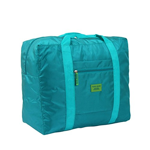 FlightBird Portable Folding Reise wasserdicht Nylon Tasche Reise-Paket gr??te Kapazit?t von M?nnern & Frauen Taschen Lake blue