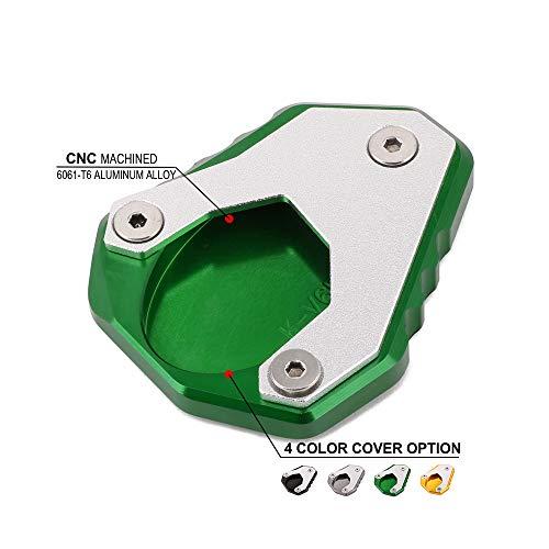 JFG RACING CNC moto cavalletto laterale del piede supporto prolunga Pad supporto piatto per Kawasaki Versys 650VERSYS6502015201620172018Street Bik