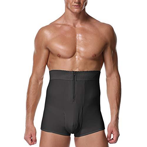 QQA Männer Bauchkontrolle Kurze Hose Hohe Taille Abnehmen Unterwäsche Schweiß Körperformer Nahtlos Bauchgürtel Boxershorts,6XL - Komfort Nahtlose Shaper Brief
