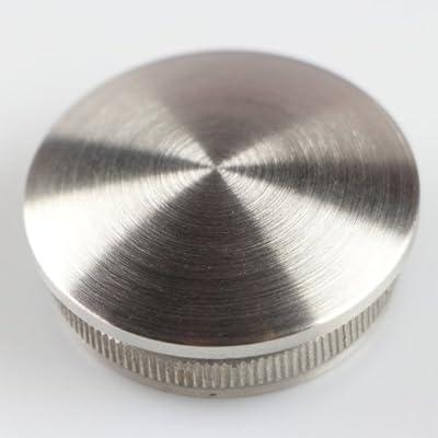 Edelstahl Kappe Stopfen Gewölbt Rohrverschluss für Rohr 42,4mm V2A Rostfrei Rohrstopfen von DRS - Du und dein Garten