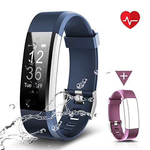 CHEREEKI Fitness Armband, Fitness Tracker Uhr mit Pulsmesser, Wasserdicht IP67 Aktivitätstracker Pulsuhren Bluetooth Smart Armbanduhr Schrittzähler mit Schlafmonitor Kalorienzähler Anruf SMS - Fitness-bluetooth-uhr